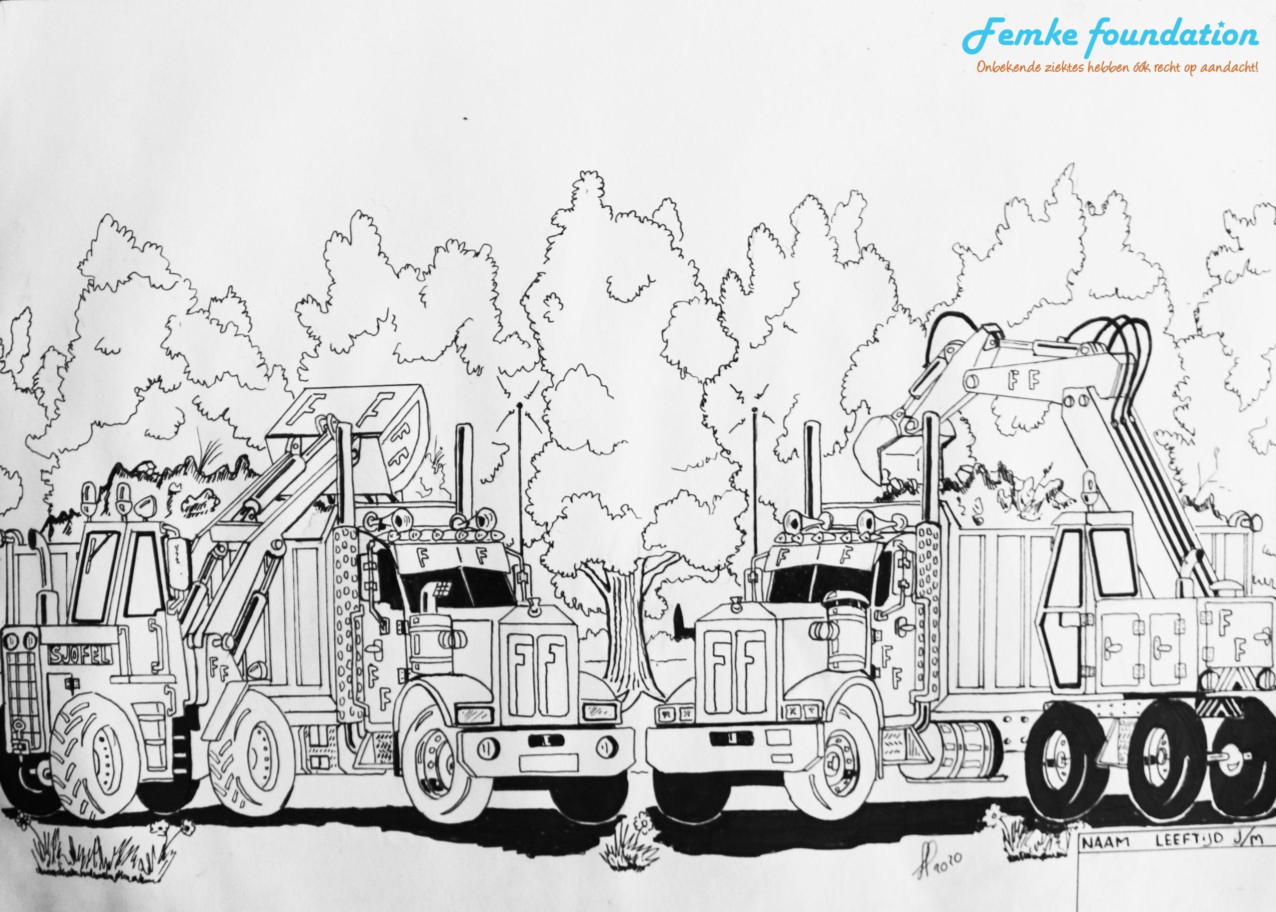 Kleurwedstrijd FF vrachtwagens